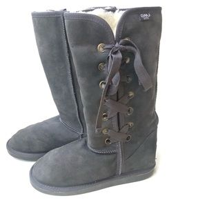 EMU Wool Lined Grey Suede Boots size 8